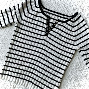 VINTAGE Ribbed Knit Top